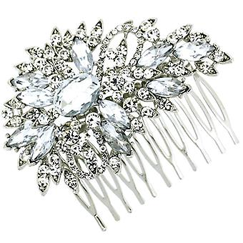 Bridal Hair Accessories Crystal Floral Shower Hair Comb