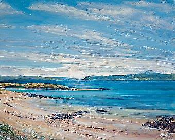 Ronnie Leckie print - North Sands, Iona
