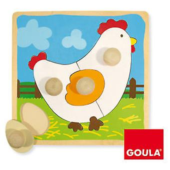 Goula Puzzle Hen (Toys , Preschool , Puzzles And Blocs)