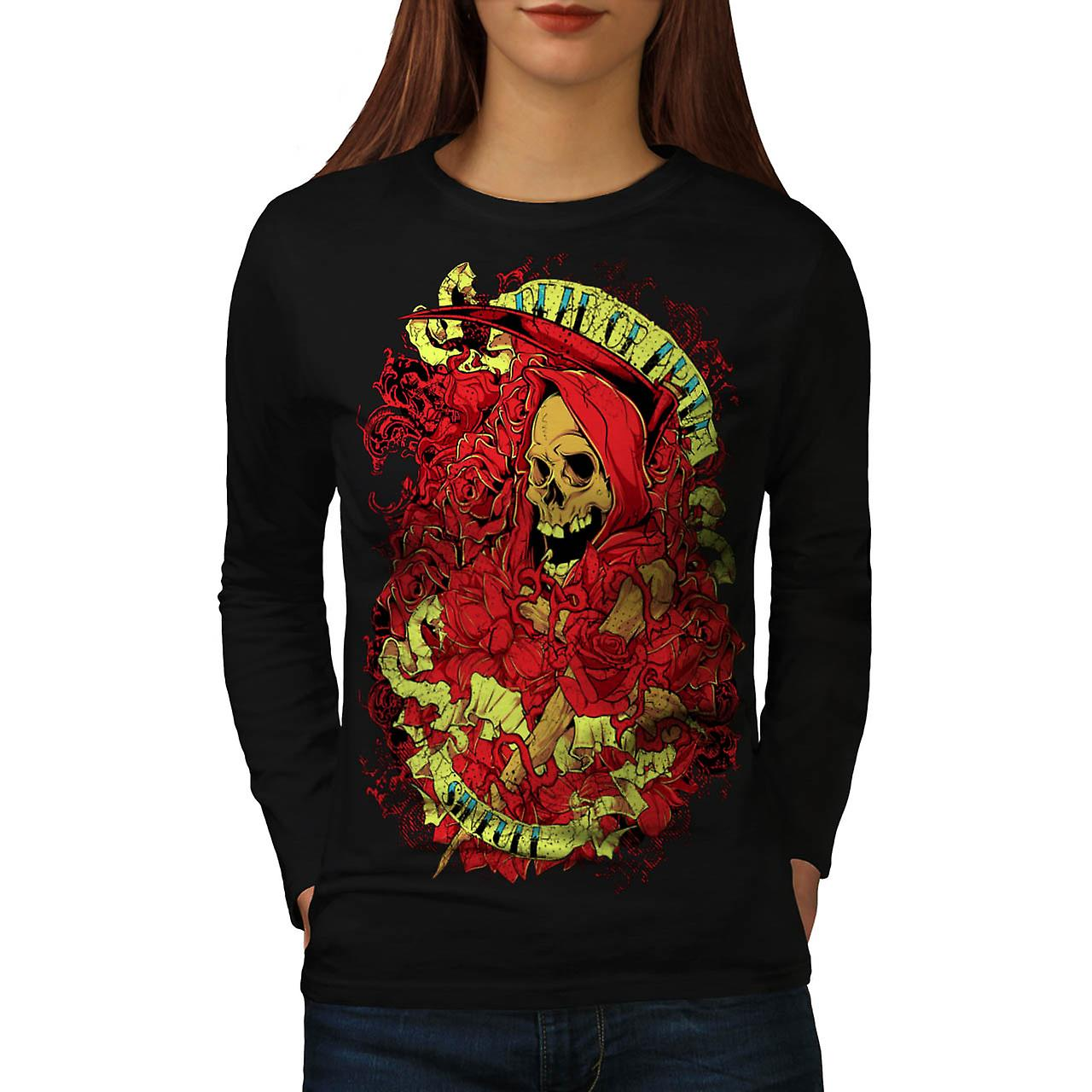 Dead Alive Sinful Skull Women Black Long Sleeve T-shirt | Wellcoda