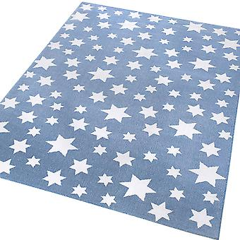 Weconhome Jeans Star Rugs 0705 03 In Blue