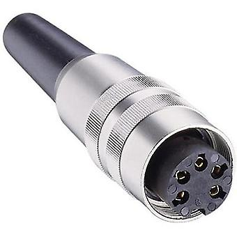 DIN connector Socket, straight Number of pins: 7 Silver Lumberg KV 70 1 pc(s)