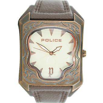Police mens watch wristwatch leather analog PL. 14252JSQR/07