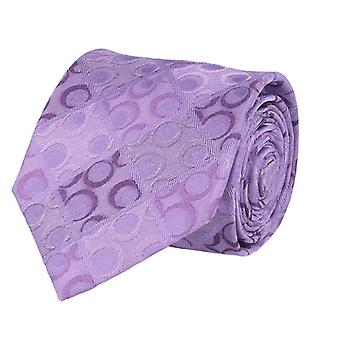 Marcell Sanders mens tie classic silk silk tie purple circles and Rhombuses 8 cm