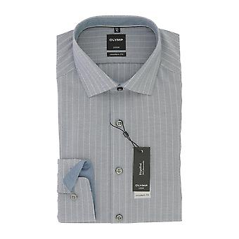 Olympus mens shirt Luxor blue modern fit global Kent collar non-iron Gr. 44