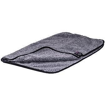 Pet Bed Double Thickness Blanket Sherpa Fleece Grey 100x150cm