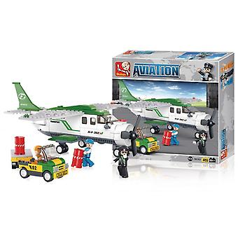 Sluban Building Blocks Aviation Series Cargo Plane