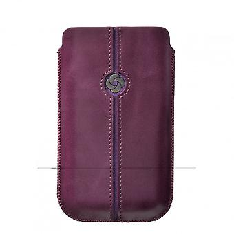 SAMSONITE DEZIR Handy Tasche Leder lila tex iP4