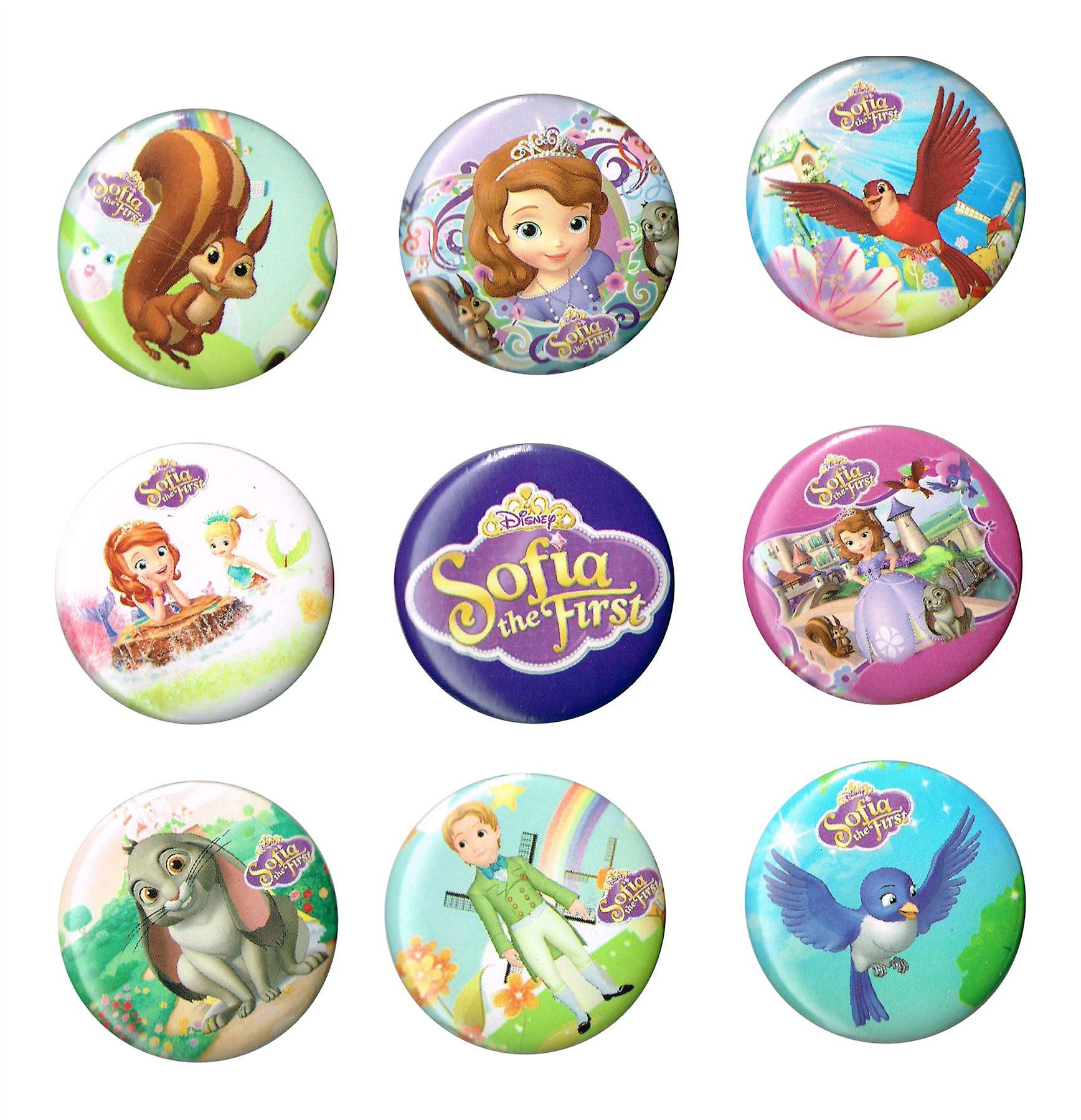 STOCK ITEM | Mid Size Badges | SOFIA THE FIRST | Ideal Party Bag Badges | SINGLE BADGE