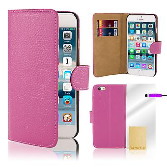 Premium Book Wallet Case Cover for Apple iPhone 6 6S - Purple