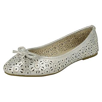 Ladies Spot On Slip On Ballerina Shoes F80037