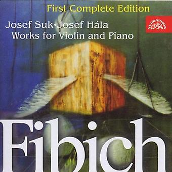 Suk/Hala - Fibich: Works for Violin and Piano [CD] USA import