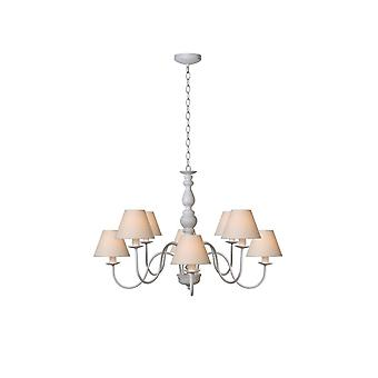 Lucide Lucide Champagne Antique White 8 Light Chandelier