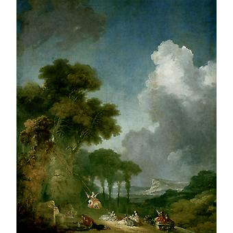Jean Fragonard - In the Trees Poster Print Giclee