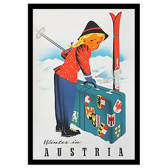 Winter In Austria Poster Print Giclee