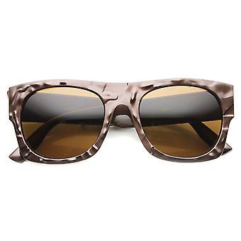 Unisex Rectangular Sunglasses With UV400 Protected Composite Lens