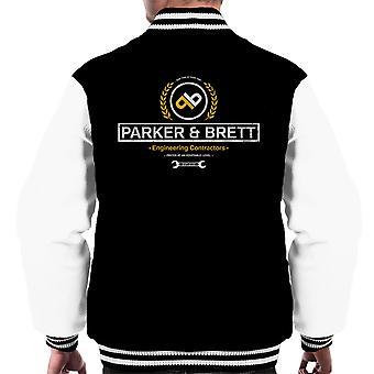 Parker og Brett Engineering entreprenører fremmede menn Varsity jakke