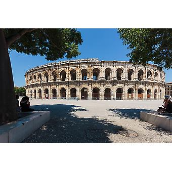 Nimes Gard Department Languedoc-Roussillon France The Roman amphitheatre Poster Print by Panoramic Images