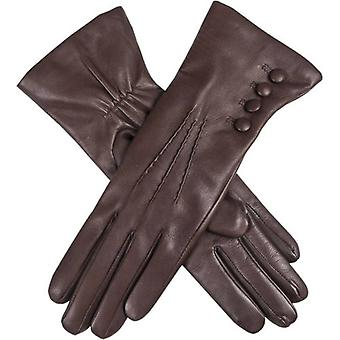 Dents Evelyn Cashmere Lined Hairsheep Leather Gloves - Mocca/Natural