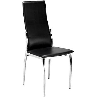 SZ Suárez Sei Cadell Chair 2 Upholstered Black Chrome Frame