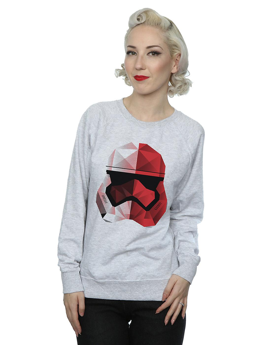 Star le dernier Jedi Stormtrooper cubiste rouge casque Sweatshirt Wars féminin