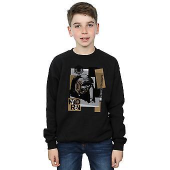 Stelle guerre ragazzi l'ultimo Jedi Kylo Ren Patchwork Sweatshirt