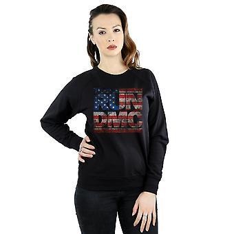 Run DMC Women's US Flag Logo Sweatshirt