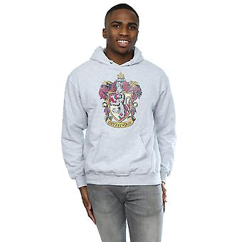 Harry Potter Men's Gryffindor Distressed Crest Hoodie