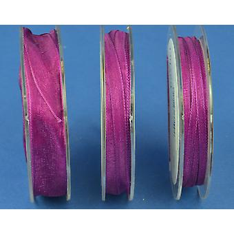 7mm Organza Craft Ribbon - 10m Reel - Rich Purple | Ribbons & Bows for Crafts