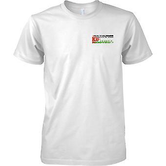 Kuwait Grunge Land Name Flag Effect - Kinder-Brust-Design-T-Shirt