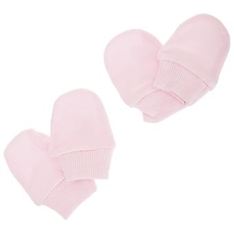 Baby Newborn 100% Cotton Elasticated Scratch Mittens (Pack Of 2 Pairs)