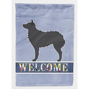 Carolines Treasures  BB5525CHF Croatian Sheepdog Welcome Flag Canvas House Size
