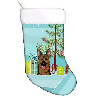 Christmas Tree and German Shepherd Christmas Stocking