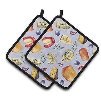 Carolines Treasures  BB5198PTHD Assortment of Cheeses Pair of Pot Holders