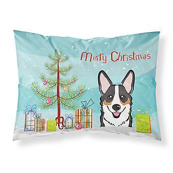 Christmas Tree and Tricolor Corgi Fabric Standard Pillowcase