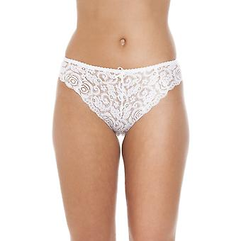 Camille Lace White Plain  Knickers Lingerie Briefs