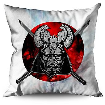 Fantasy Katana Warrior Linen Cushion Fantasy Katana Warrior | Wellcoda