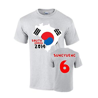 South Korea 2014 Country Flag T-shirt (ki 6)