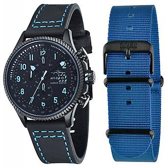 AVI-8 Hawker Hunter Stealth Watch - Black/Blue