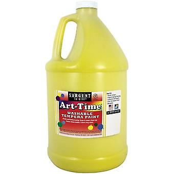 Washable Art-Time(R) Tempera Paint 128oz-Yellow SA17GAL-3602