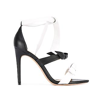 Alexandre Birman ladies B0014581690002645 white/black leather sandals