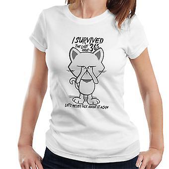 Ich überlebte die letzten 365 Tage Katze Damen T-Shirt