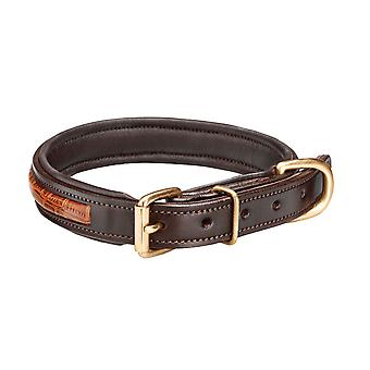 Woofmasta Leather Croc Dog Collar