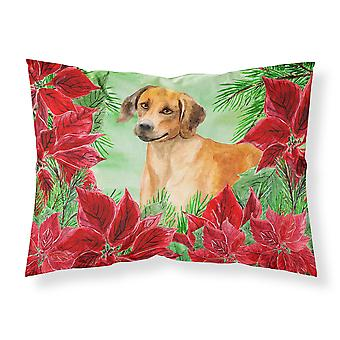 Rhodesian Ridgeback Poinsettas Fabric Standard Pillowcase