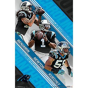 Carolina Panthers - zespół 2015 Poster Print
