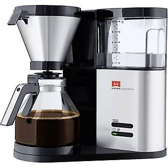 Coffee maker Melitta Aroma Elegance 1012-01 Stainless steel (brushed), Black Cup volume=10
