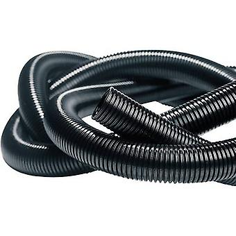 HellermannTyton 169-22170 IWS-17-N6-BK-L1 Isolvin Corrugated Conduit Black 50 M