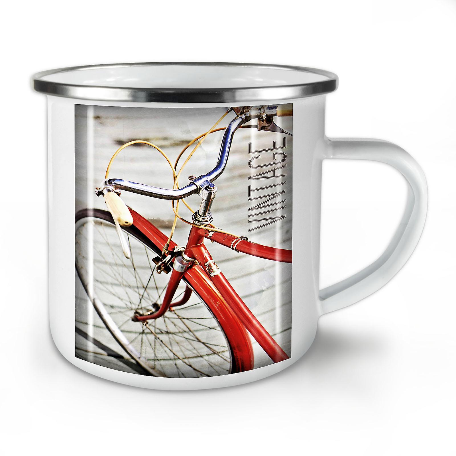 OzWellcoda Mug10 New Bike Hippie Enamel Whitetea Old Coffee LR34A5j