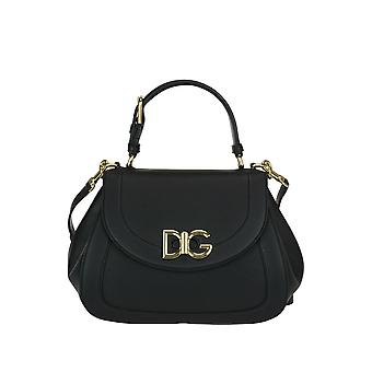 Dolce E Gabbana women's BB6449AS12180999 black leather handbags