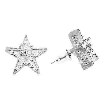 Iced out bling hip hop earrings - SUPER STAR 12 mm